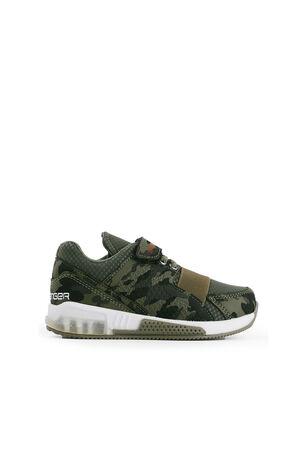 Slazenger - Slazenger ELA Sneaker Erkek Çocuk Işıklı Taban Ayakkabı Haki Kamuflaj