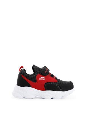Slazenger - Slazenger EXPRESS Sneaker Erkek Çocuk Ayakkabı Siyah / Kırmızı