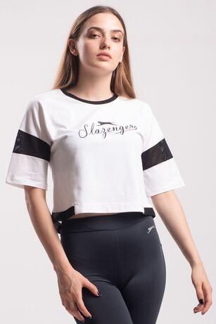 Slazenger - Slazenger POLSY Kadın T-Shirt Beyaz