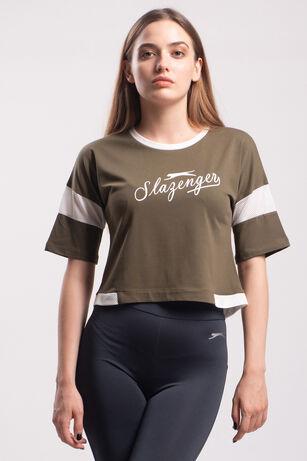 Slazenger - Slazenger POLSY Kadın T-Shirt Haki