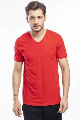 Slazenger - Slazenger SARGON Erkek T-Shirt Kırmızı