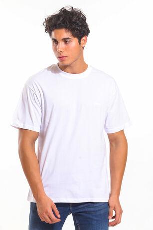 Slazenger - Slazenger BLOOD I Oversize Erkek T-Shirt Beyaz