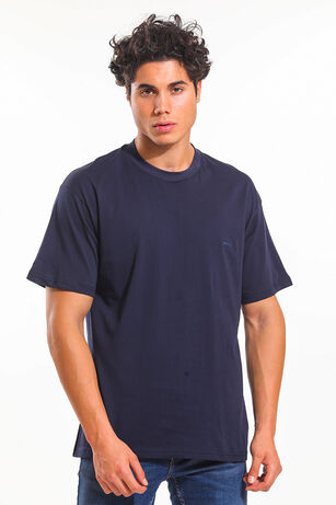 Slazenger - Slazenger BLOOD I Oversize Erkek T-Shirt Lacivert