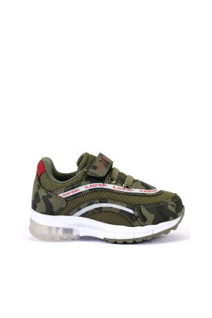 Slazenger - Slazenger EGG Sneaker Erkek Çocuk Işıklı Taban Ayakkabı Haki