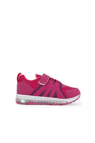 Slazenger - Slazenger EVRIM I Sneaker Kız Çocuk Işıklı Taban Ayakkabı Fuşya