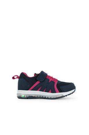Slazenger - Slazenger EVRIM I Sneaker Kız Çocuk Işıklı Taban Ayakkabı Lacivert / Fuşya
