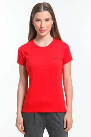 Slazenger - Slazenger MOVE Kadın T-Shirt Kırmızı