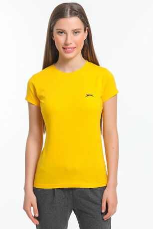 Slazenger - Slazenger MOVE Kadın T-Shirt Sarı