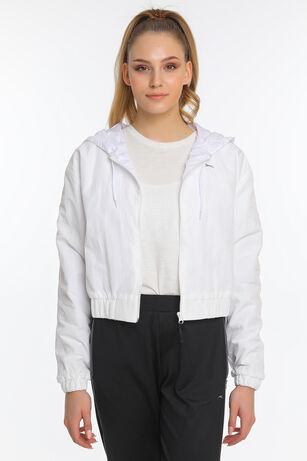 Slazenger - Slazenger RADU I Kadın Yağmurluk Kırık Beyaz