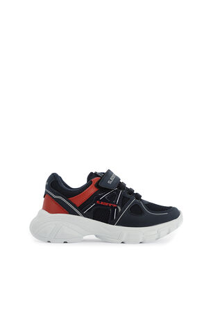 Slazenger - Slazenger REBEL Sneaker Erkek Çocuk Ayakkabı Lacivert / Kırmızı