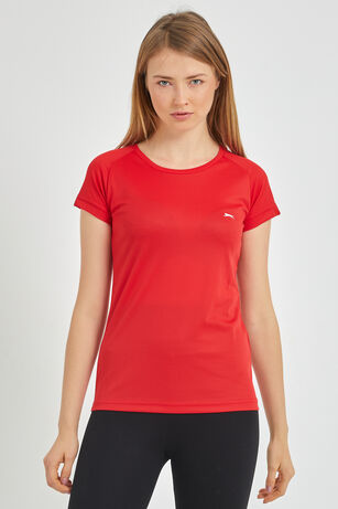 Slazenger - Slazenger RELAX Kadın T-Shirt Kırmızı