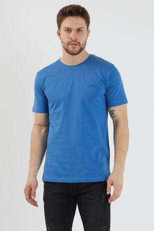 Slazenger - Slazenger SANDER Erkek T-Shirt Indigo