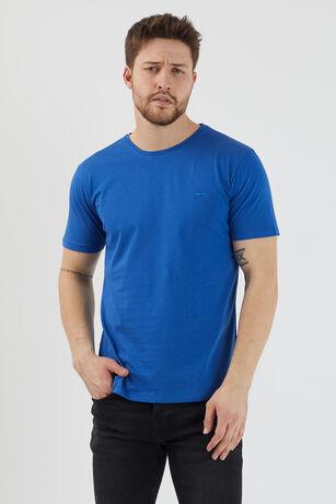 Slazenger - Slazenger SANDER Erkek T-Shirt Saks Mavi