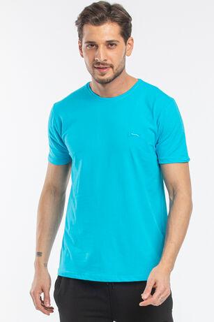 Slazenger - Slazenger SANNI Erkek T-Shirt Turkuaz