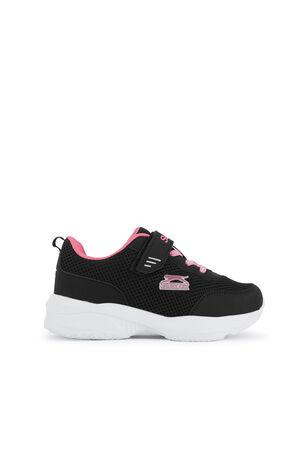 Slazenger - Slazenger SPACE Sneaker Kız Çocuk Ayakkabı Siyah / Fuşya